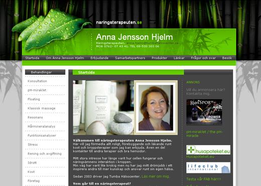 Näringsterapeuten Anna Jensson